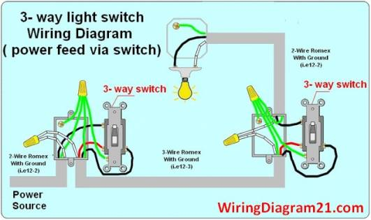 How Do I Wire A 3 Way Switch On A New Construction? - Blur  Way Switch Wiring Diagram Power To on